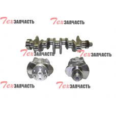 Коленвал двигателя Komatsu 4D94LE, 4D98E  (включая шестерню коленвала) YM129902-21050, YM12990221050